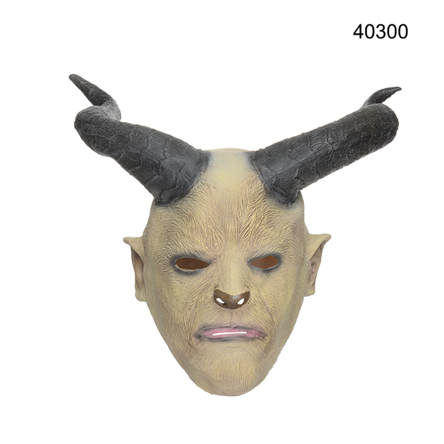 Latex Halloween Costume Party Decoration Animal Head Goat Mask