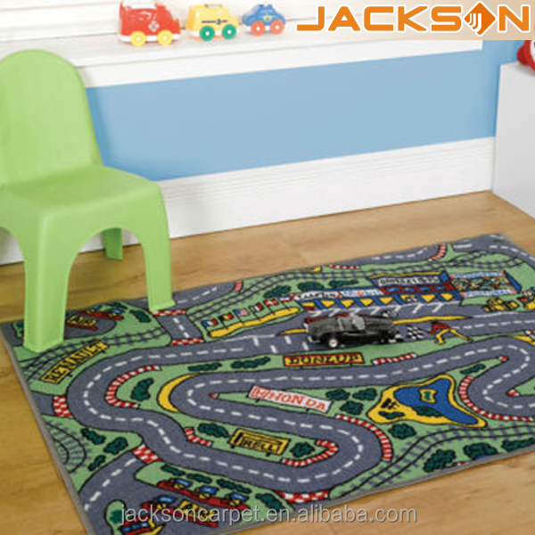 Kids City Map Playing Mat Area Rugs