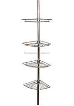 Tension Pole Shower Corner Caddy In Teak/Oil Rubbed Bronze