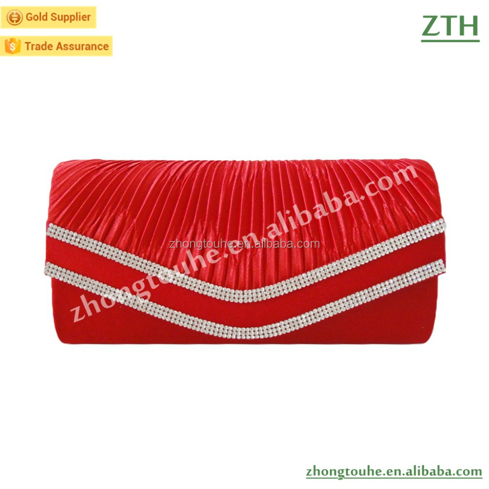 red fashion satin clutch bag wholesale