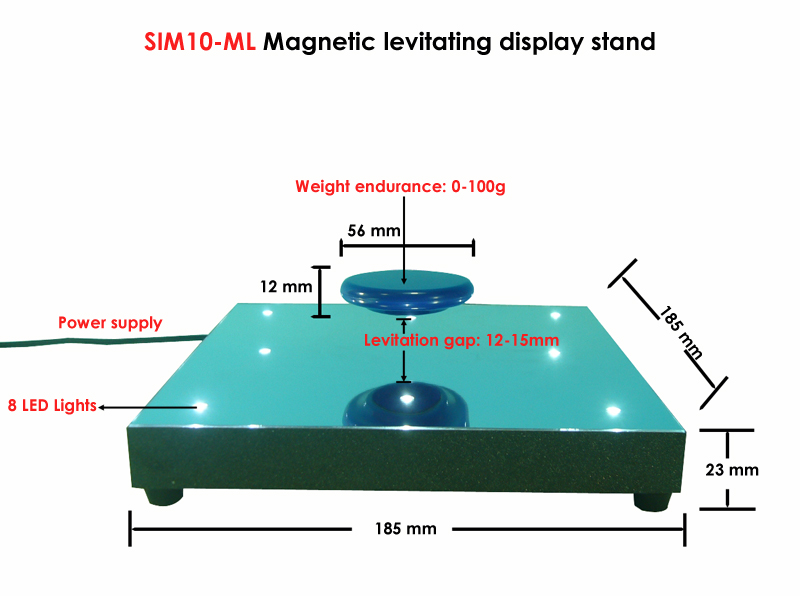 Sunpai electric magnetic levitating floating shelf display stand with round magnet plate