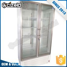 2017 Frozen Food Fridge Super Market Glass Door Display Freezer