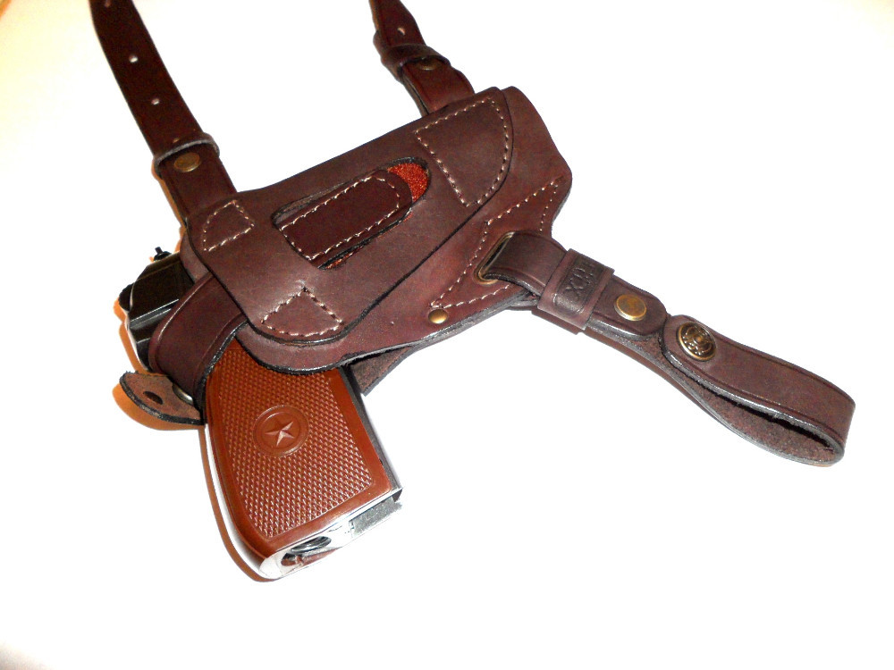 100% Genuine leather shoulder gun holster COLT1911, Beretta, Sig Sauer 103-4