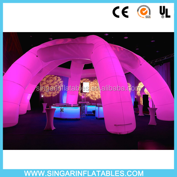 led lighting commercial using advertising inflatabel spider tent