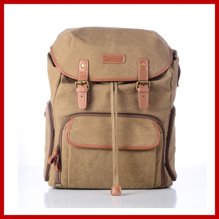 leather backpack camsky new design camera bag