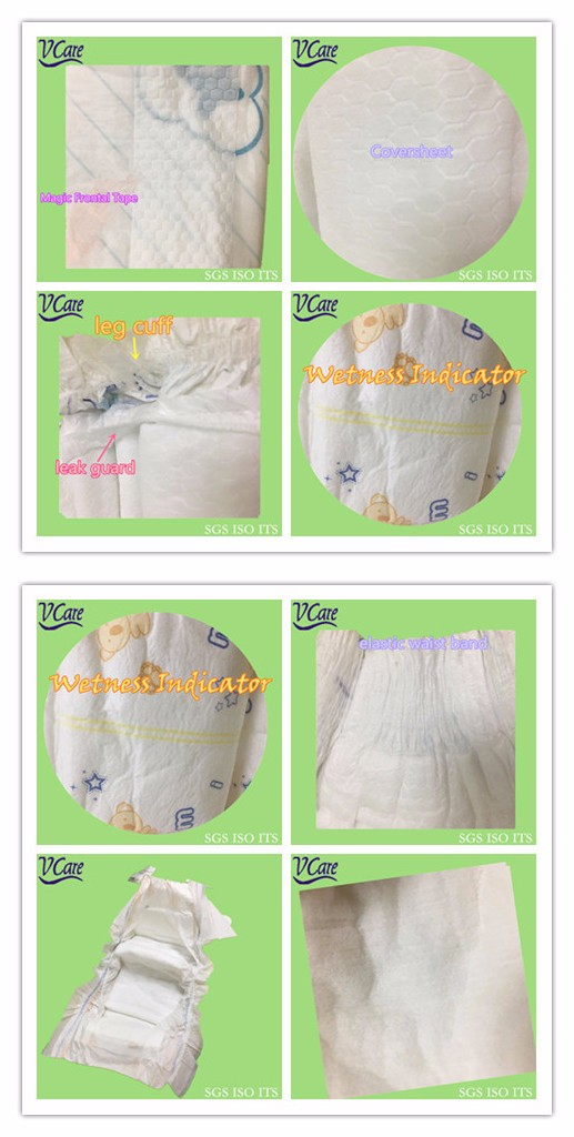 Biodegradable Soft Best Care Baby Diaper Bag for African Market