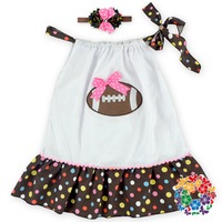 White Polka Dot Cotton Fabric Daily Wear Dress Design for Girls