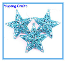 8CM Mini Christmas Plastic Star/Star Shape Tree Decorations
