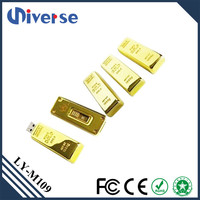 Promotional Gold Bar USB Stick 1GB 4GB 8GB 16GB Wholesale Flash USB Drive for Bank
