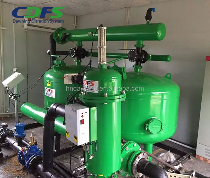 Underground/surface water automatic backwash filtration drip irrigation system