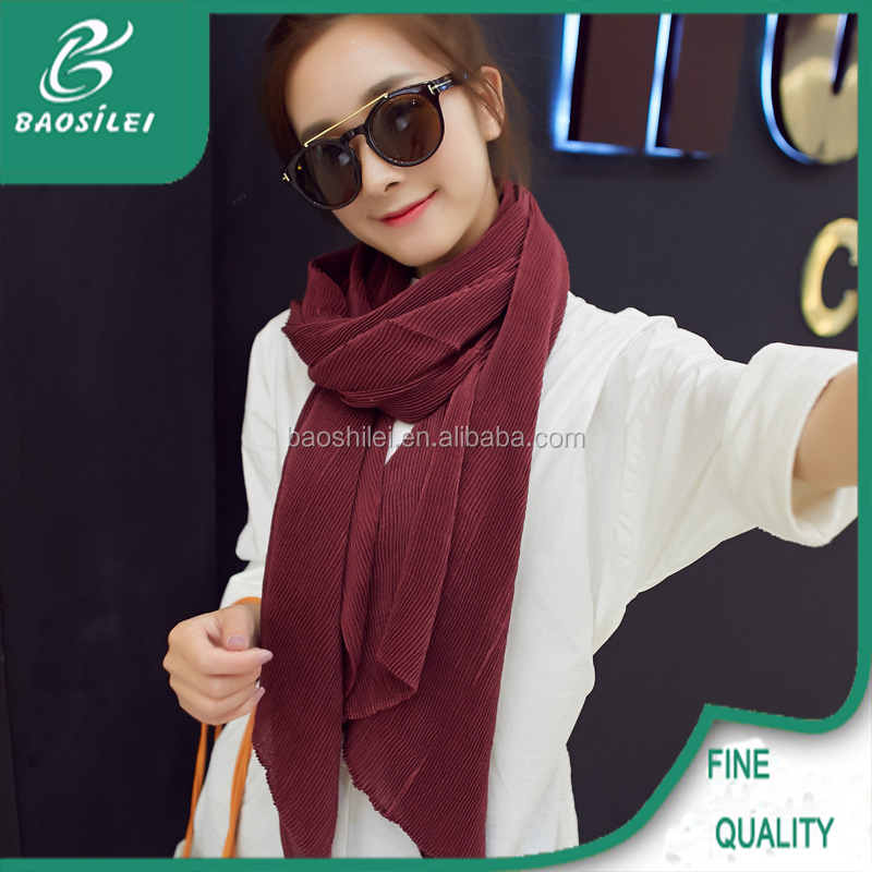 2016 fold style latest scarf designs soild color winter shawl scarf
