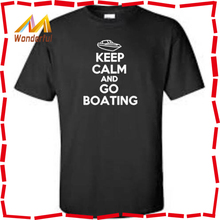 Keep Calm And Go Boating Accessory Big & Tall T-Shirt Funny Lake River Summer Mens T Shirt