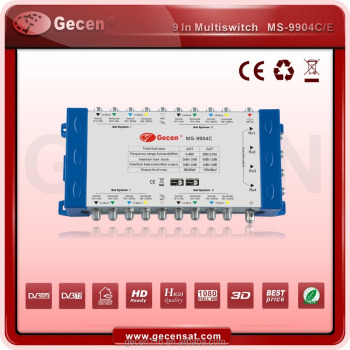 Gecen 2017 Cascadable Multiswitch of 9 inputs 4 outputs Model MS-9904C