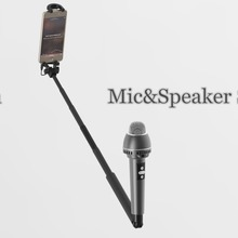 Wireless Bluetooth Speaker with Extendable Monopod Selfie Stick and Microphone