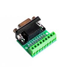 DB9 RS232 Serial to Terminal male Adapter Connector Breakout Board