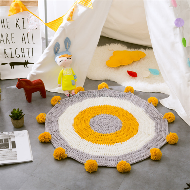 Baby children Handmade Crochet Knitted baby living room blanket