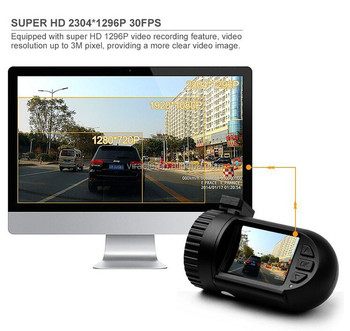CE ROHS certificate FHD 1080P Car Dvr with 6 layers Glass Lens