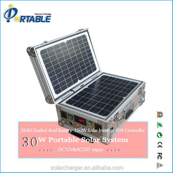 Portable Solar Power/Home System With 30W Panels