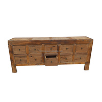 Wholesale Chinese Antique Pine Long Sideboard Cabinet Asian Furniture with Good Quality,Ten Drawer Cabinet