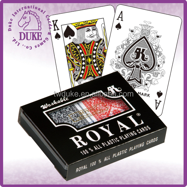 2 DECKS PACKING ROYAL BRAND 100% ALL PLASTIC PLAYING <strong>CARDS</strong>