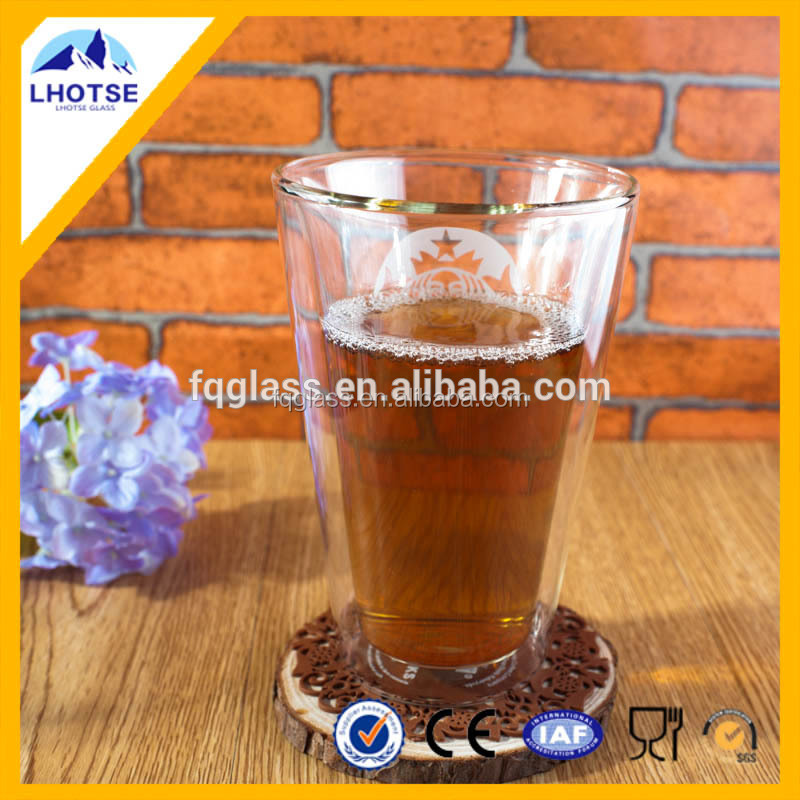 300ml Hot Sale High Borosilicate Double Wall Glass Cup Daily Use