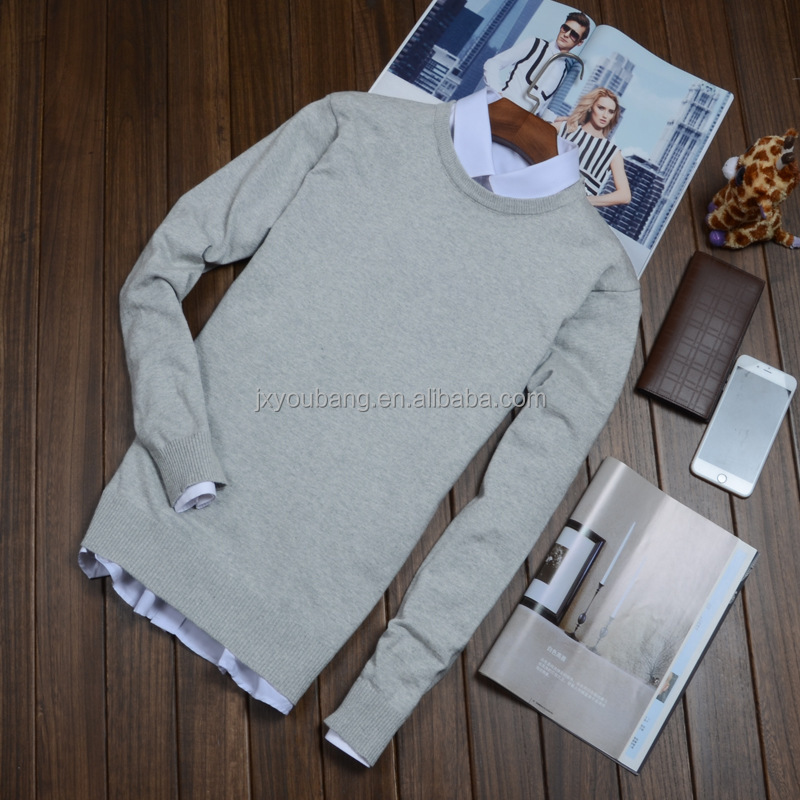 Hot sale unisex man and women cheap crew neck professional sweater