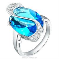 Buy Natural Aquamarine Gemstone Silver Ring, Beautiful Jewelry ...