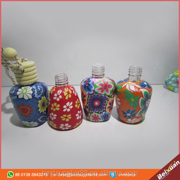 10 ml Car hang rope empty bottle decoration Polymer clay essence oil Perfume bottle