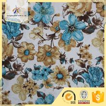 USA wholesale customized morning glory pattern fabric cotton digital printing jersey fabric for shirt