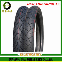 China New Qingdao DEJI high quality motorcycle tubeless tyre 90/90-17