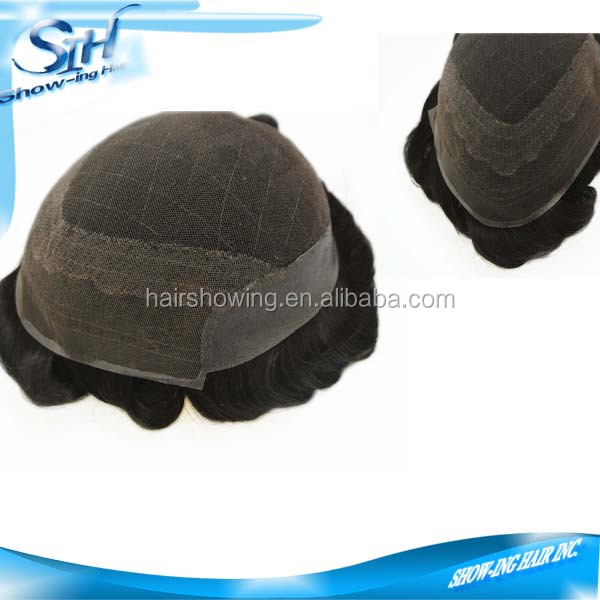 hot selling swiss lace human hair systems,men toupee in stock