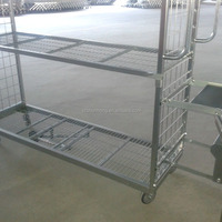 Warehouse Store Rolling Picking Trolley For