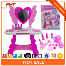 Pretend Toys Girls Make Up Set Hand Carry Chair miniature Makeover Pretend Furniture Girl Dressing Table Plastic Play House