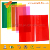 Best price 2014 transparent colored plastic sheet/self adhesive transparent book cover,plastic cover for books