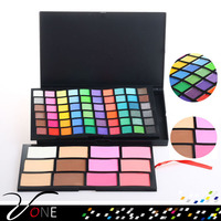 HP72 eye make up 72 different charming colors fashion private label makeup palette, matte and shimmer