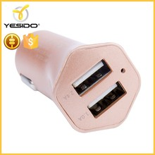2017 hot sale qc3.0 2 port usb car charger for cell phone
