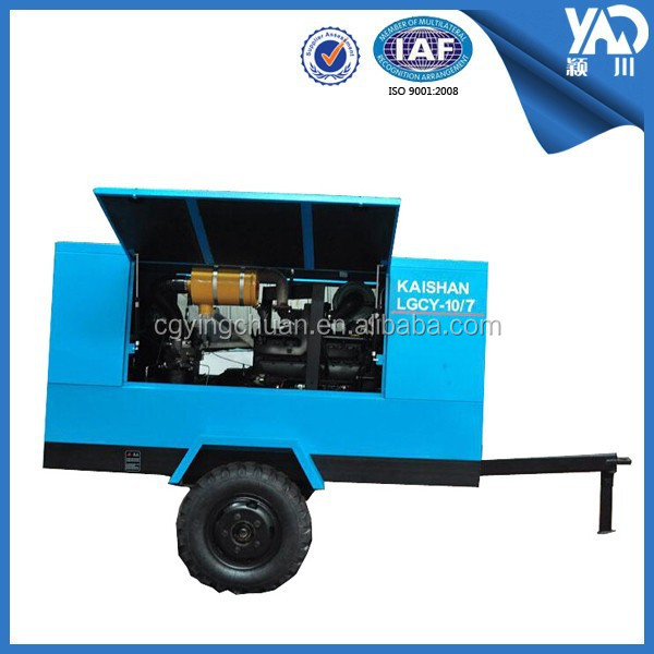 Diesel Industrial Portable air compressor with Shotcrete Machine
