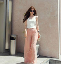 2013 KOREAN CHIFFON NEW FASHION WIDE LEG WOMENS PANTS