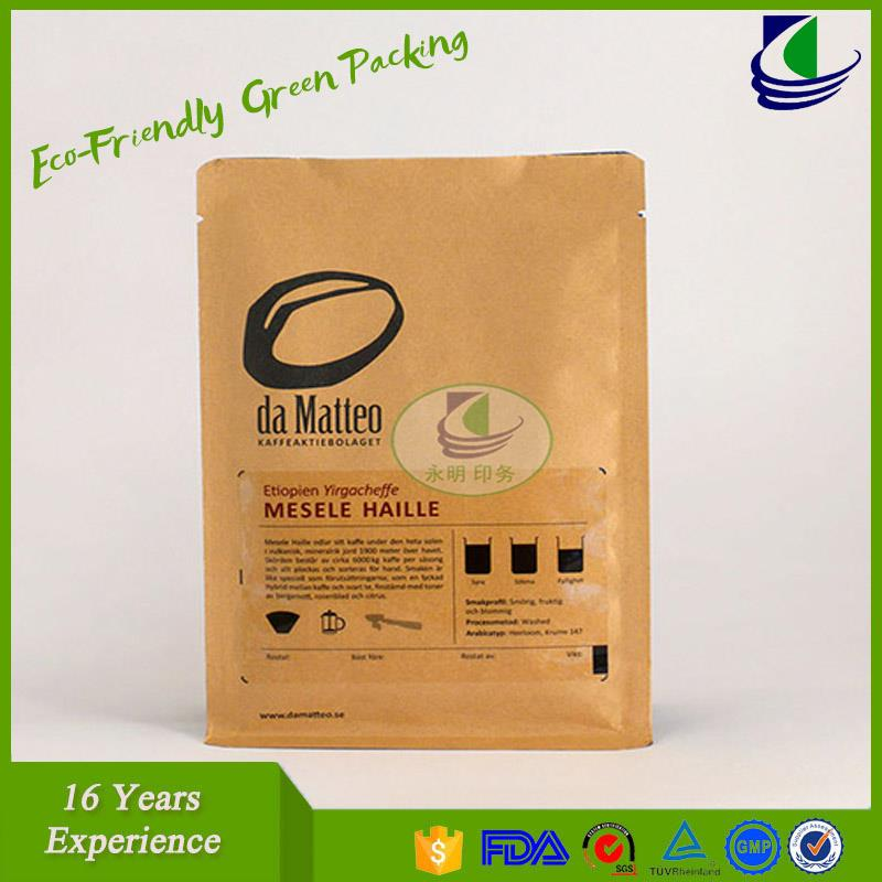 Fast food packing paper bags brown kraft paper bags for shopping