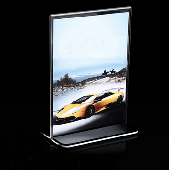 Acrylic picture display stand acrylic poster display frame
