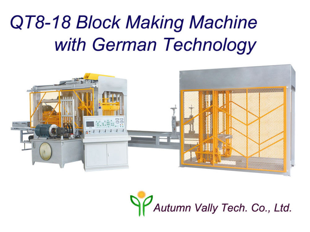Automatic Hydraulic Type Hollow Paver Making Machine in Advanced German Technology QT8-18