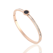 Enamel painting zirconia zircon bangle bracelet