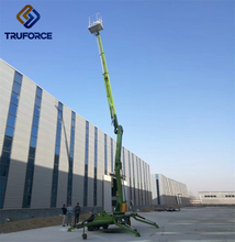 Hydraulic truck mounted towable mini articulated boom lift/towable cherry picker for sale