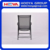 4pcs iron outdoor leisure folding chair,black+silver,68CM*59CM*95cm
