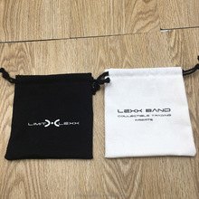 <strong>Black</strong> And White Cotton Bag For Jewelry