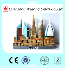 resin Dubai building 3d Fridge magnets