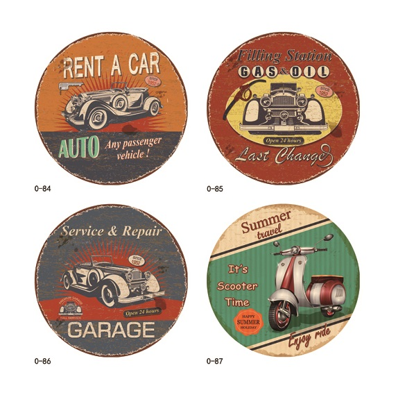 Various garage car motor pepair subjct custom and wholesale metal sign plate