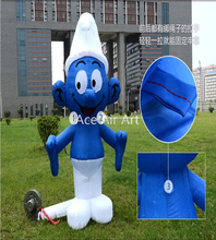 Kids like funny free shipping popular inflatable smurfs