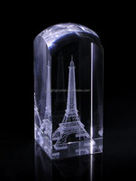 Factory Wholesale K9 Blank Crystal 3d laser etched glass cube