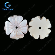 flower shape pink color natural pearl shell loose gemstone